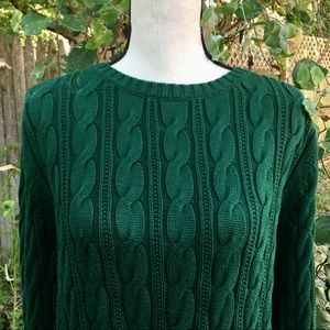 Lands'End Forest Green Sweater